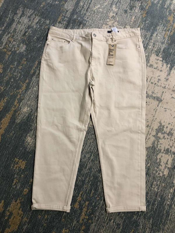 Бежевые джинсы slim marks&spencer, новые!