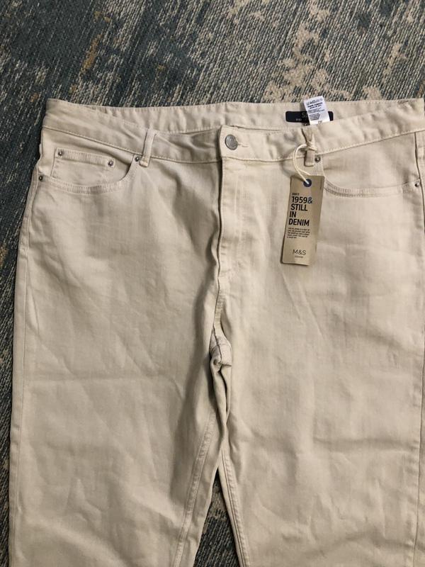 Бежевые джинсы slim marks&spencer, новые! - Фото 2