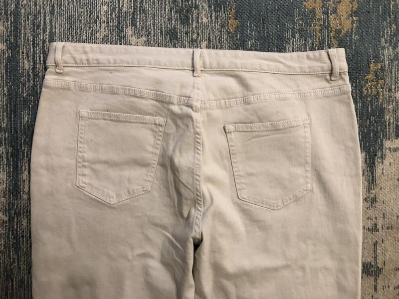 Бежевые джинсы slim marks&spencer, новые! - Фото 4