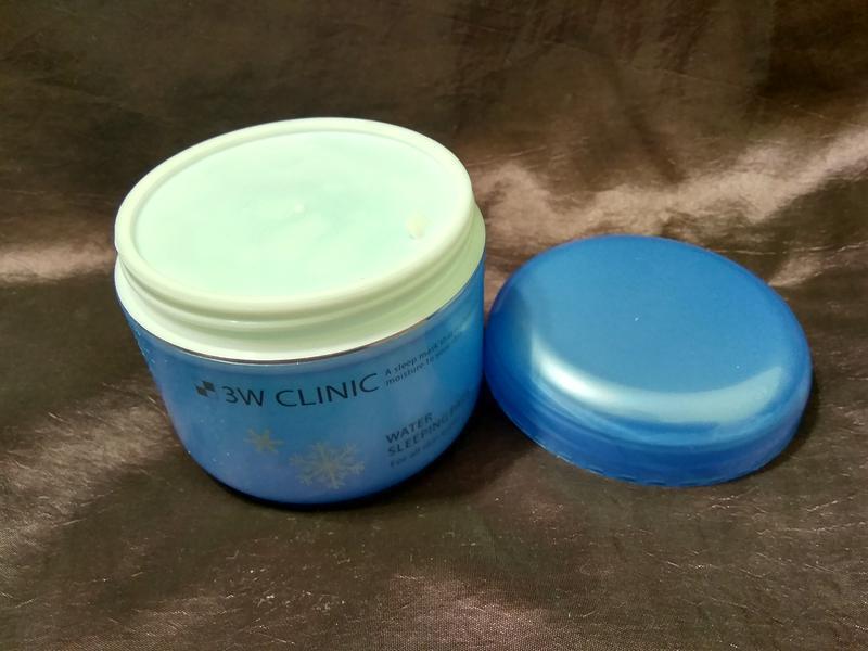 Ночная корейская маска для лица 3w clinic water sleeping pack - Фото 2