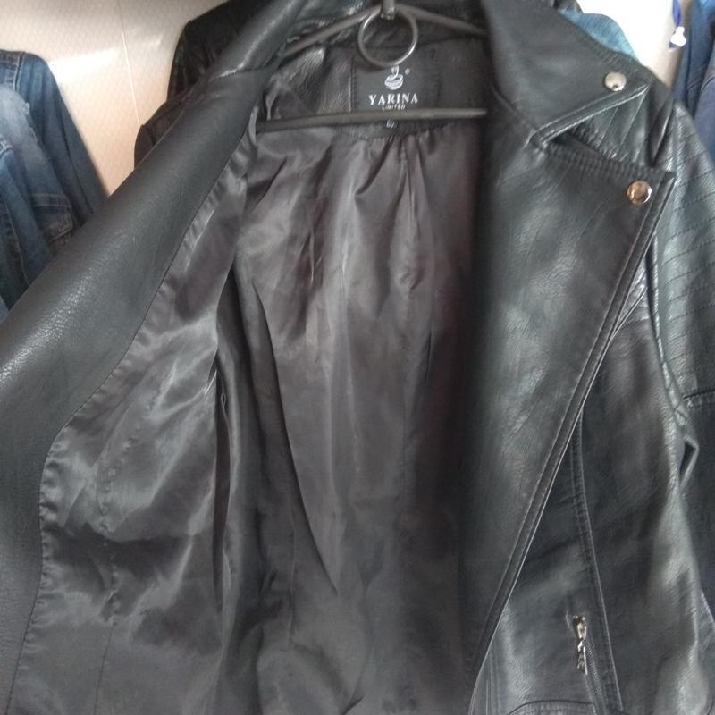 Куртка из кожзама косуха - Фото 2
