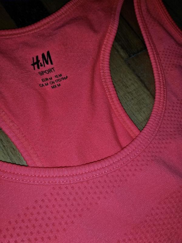 Майка h&m sport - Фото 5