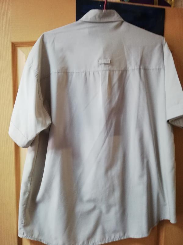 Мужская рубашка короткий рукав светло-серый цвет. - Фото 3