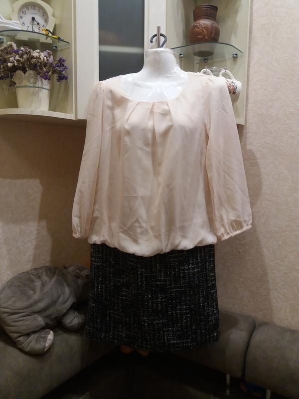 Комбинированное платье с напуском . бренд-natural beauty basic...