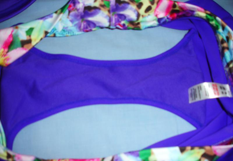 Купальник раздельный сборный размер 50-52 / 16-18 фиолетовый с... - Фото 4
