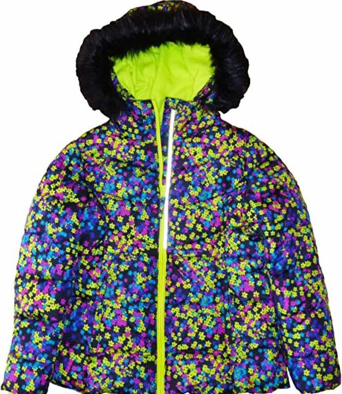 Яркая зимняя куртка для девочки falls creek 5-6л.