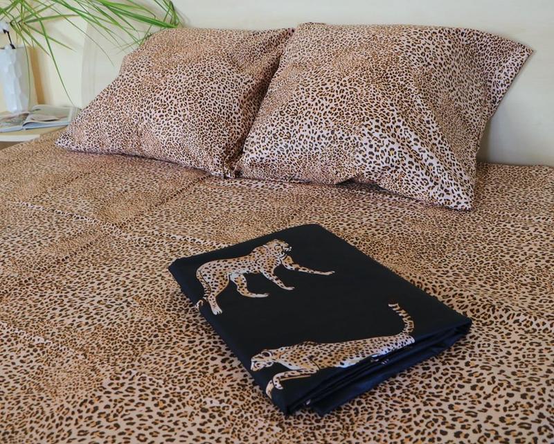Постельное белье леопард . полуторный - Фото 2