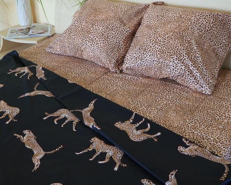Постельное белье леопард . полуторный - Фото 3