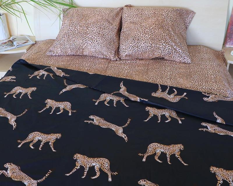 Постельное белье леопард . полуторный