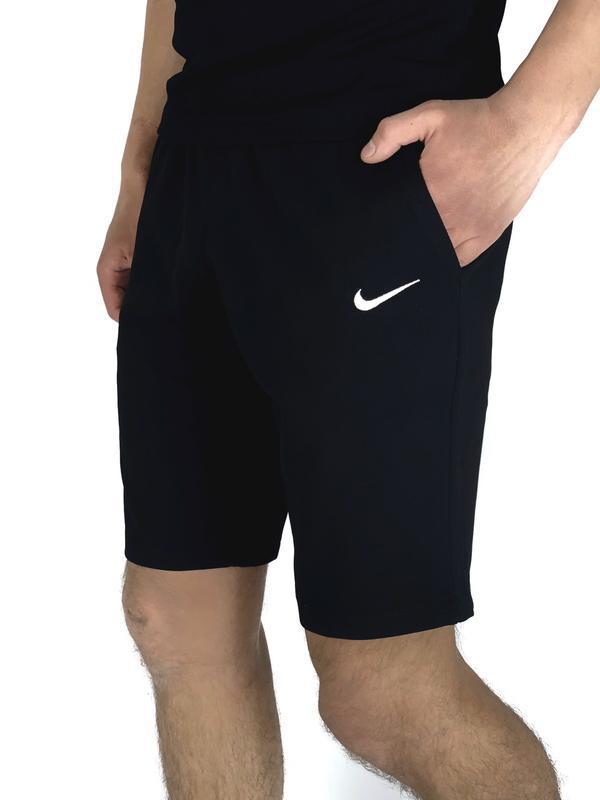 Мужские черные шорты nike - Фото 4