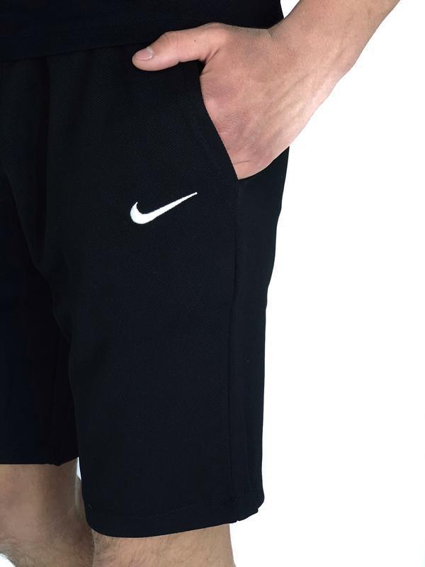 Мужские черные шорты nike - Фото 6