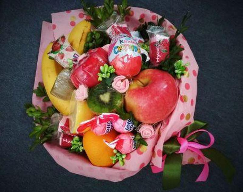 Сьедобные букеты мужские сладкие разные - Фото 2