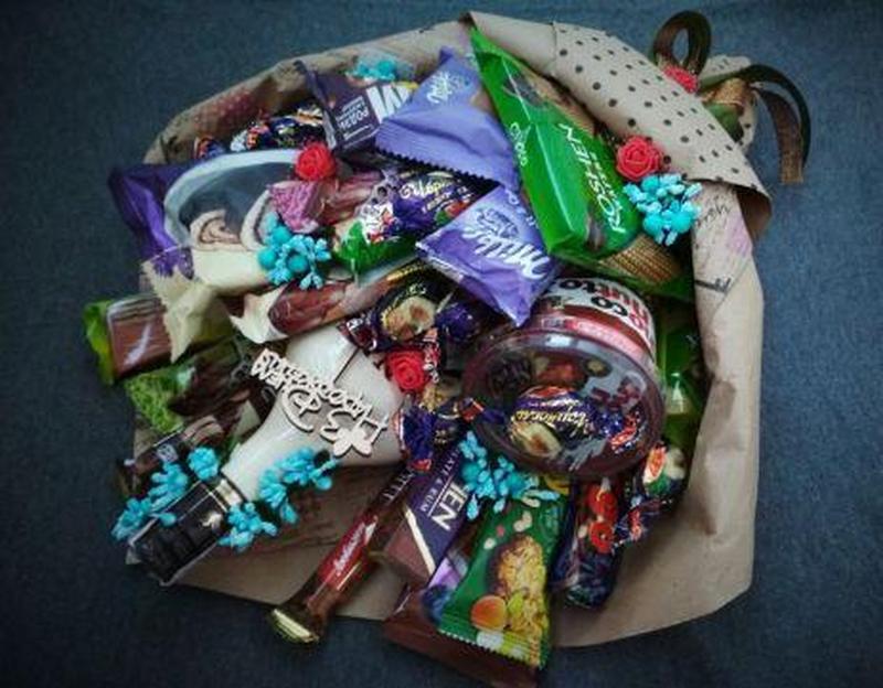 Сьедобные букеты мужские сладкие разные - Фото 3