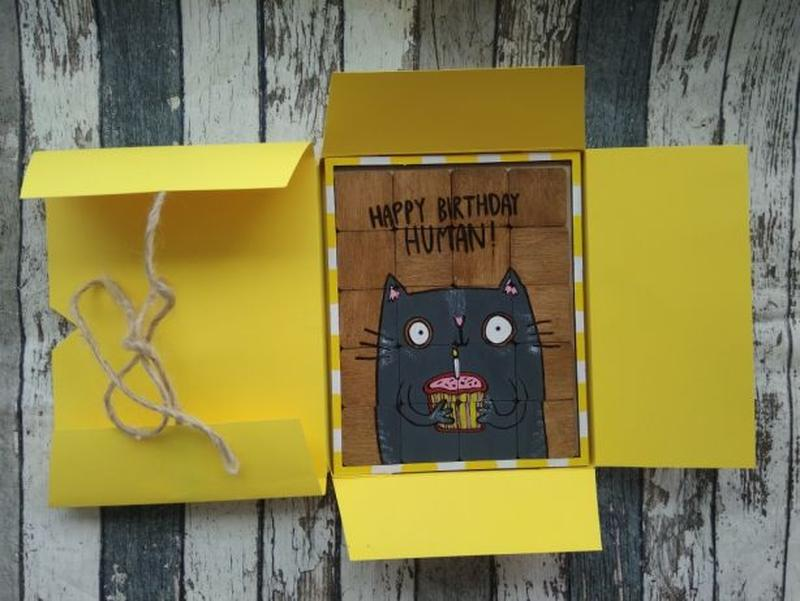 Открытка - пазл , подарок на день рождения - Фото 4