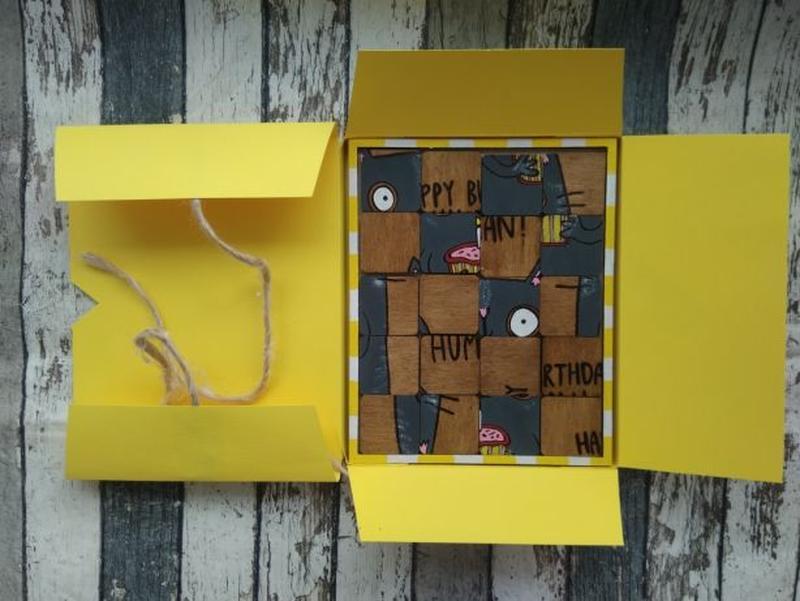 Открытка - пазл , подарок на день рождения - Фото 5