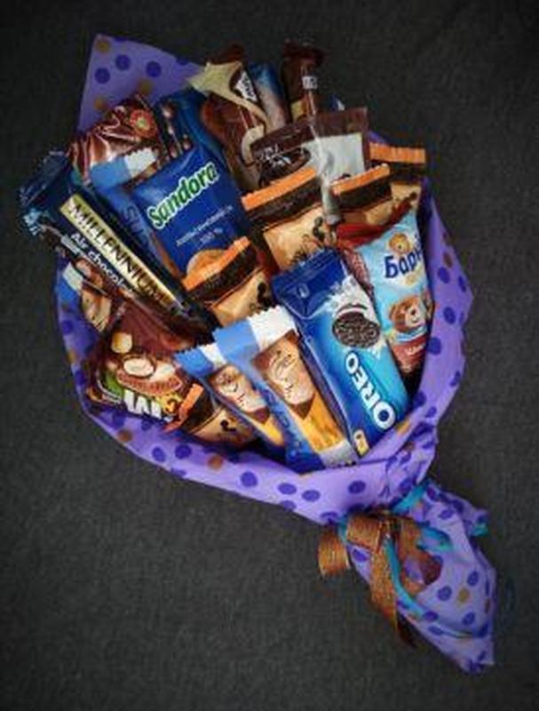 Сьедобные букеты мужские сладкие разные - Фото 5