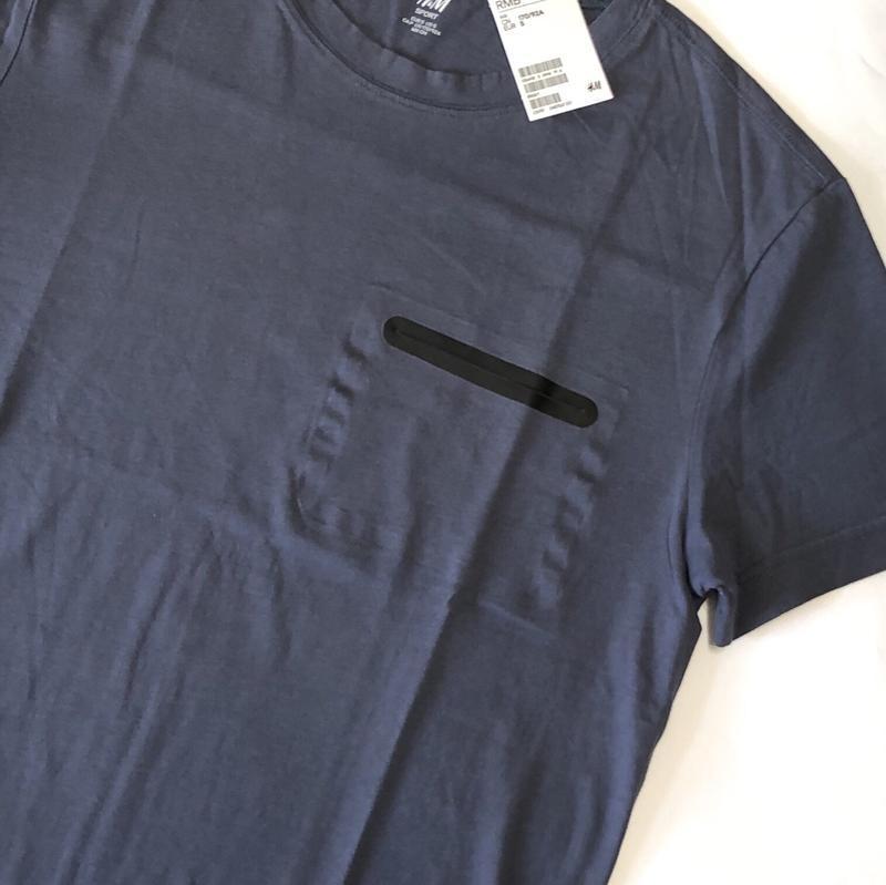 Темная спортивная футболка h&m sport ! - Фото 7