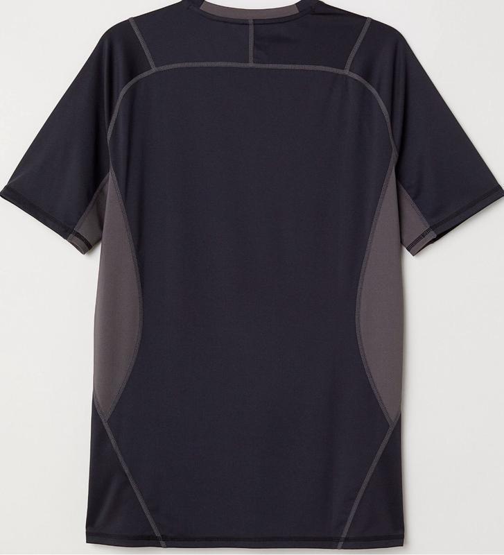 Чёрная спортивная футболка h&m sport ! - Фото 2