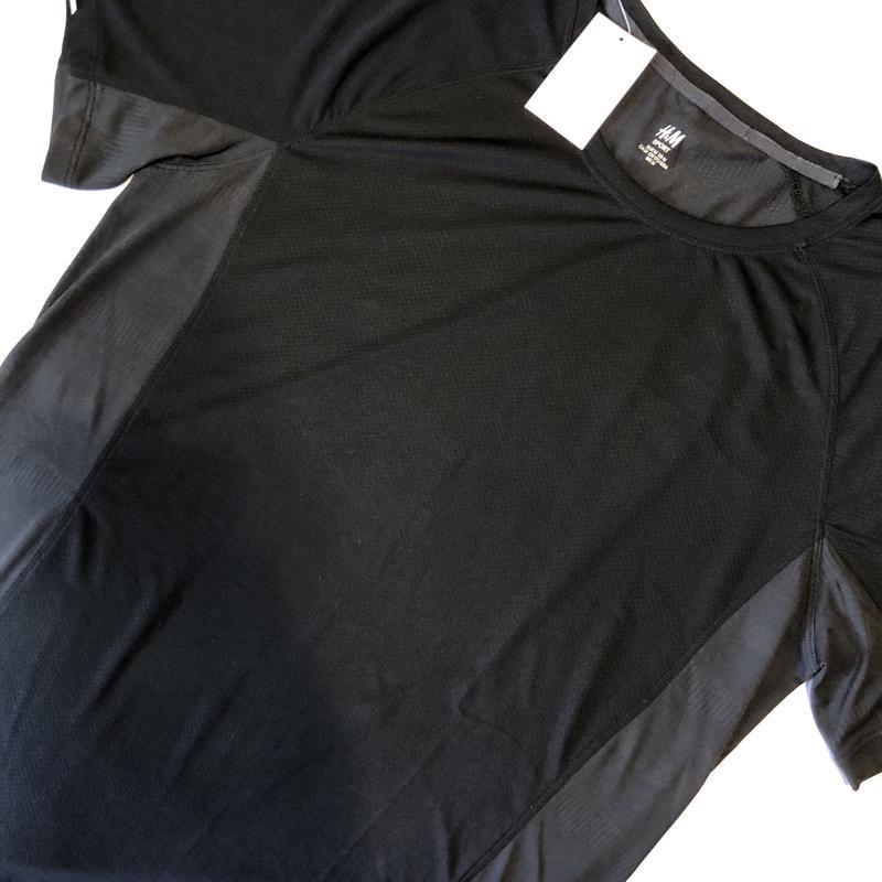 Чёрная спортивная футболка h&m sport ! - Фото 4