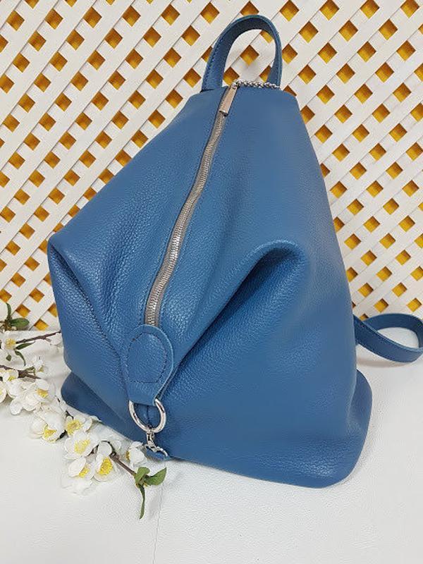 Рюкзак женский кожаный парис - Фото 2