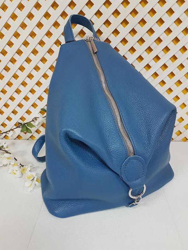 Рюкзак женский кожаный парис - Фото 3