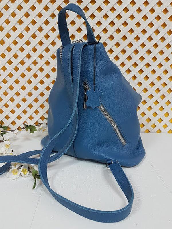 Рюкзак женский кожаный парис - Фото 4