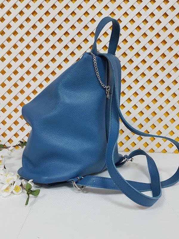 Рюкзак женский кожаный парис - Фото 5