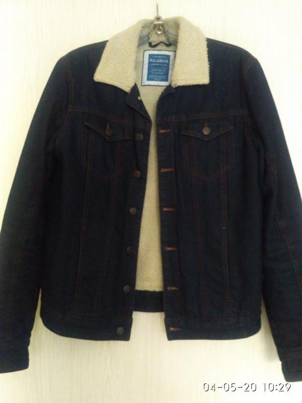 Куртка мужская джинсовая утепленная