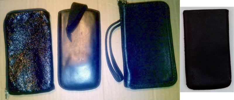 Кожаные чехлы для телефонов, ключей, очков и тп