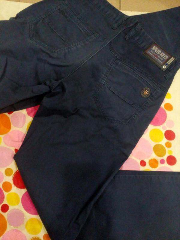 Летние котоновые мужские брюки - Фото 2