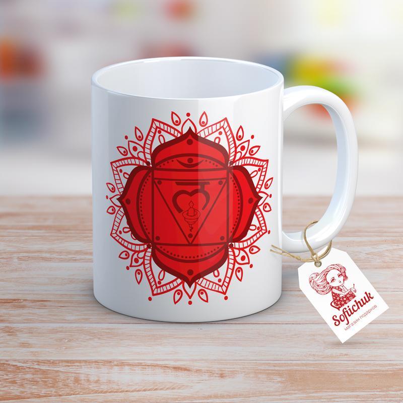 """Дизайнерская чашка """"Муладхара. Чакра. Индия. Эзотерика"""""""