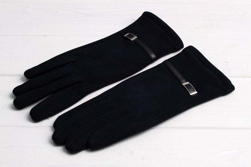Трикотажные перчатки на плюше сенсорные, разные размеры