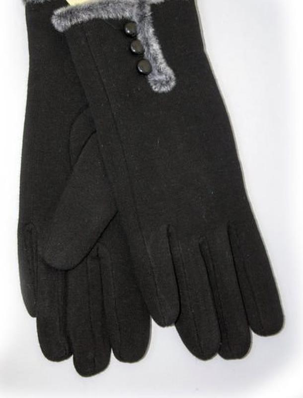 Трикотажные перчатки сенсорные на плюше! все размеры