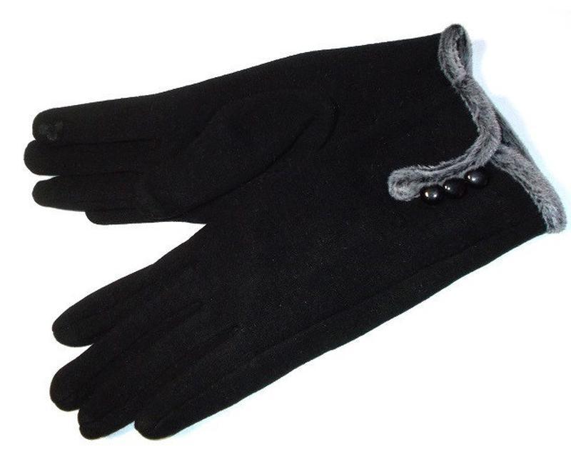 Трикотажные перчатки сенсорные на плюше! все размеры - Фото 4