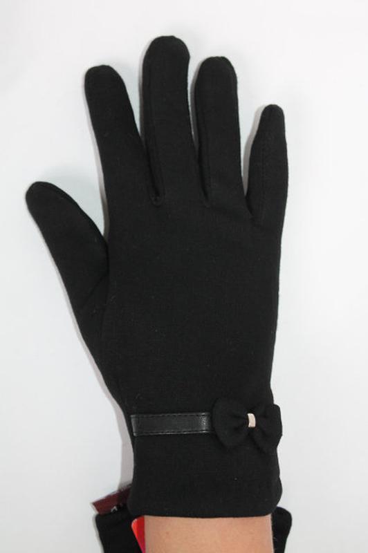 Трикотажные перчатки сенсорные на плюше! размеры разные