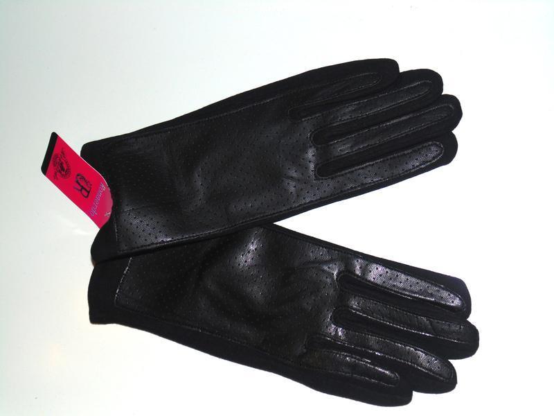 Трикотаж/кожзам  перчатки на плюше все размеры