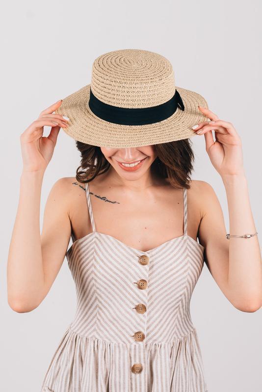 Шляпа летняя женская - Фото 4