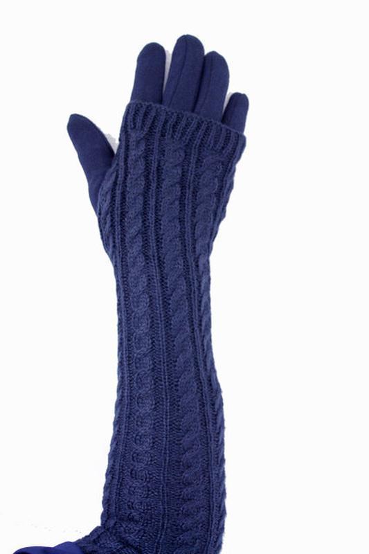 Перчатки длинные ажурные