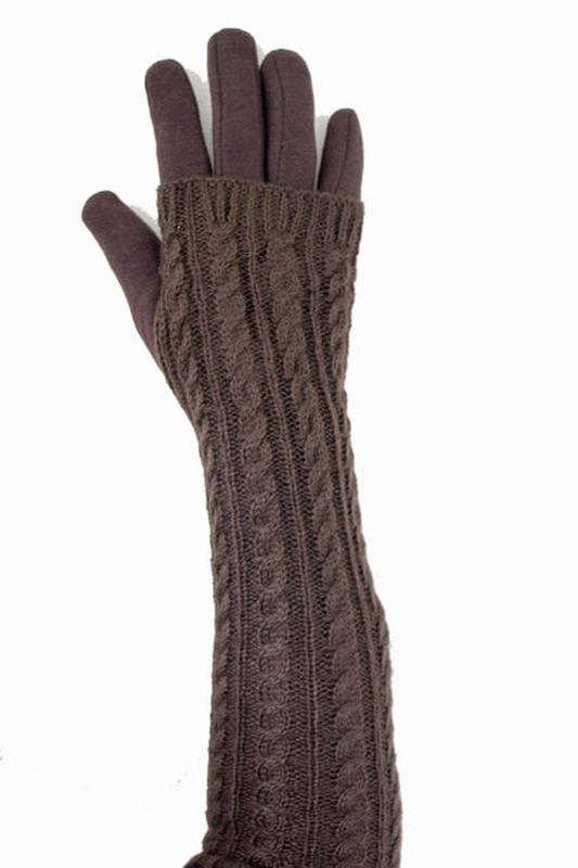 Перчатки +митенки ажурные, длинные.