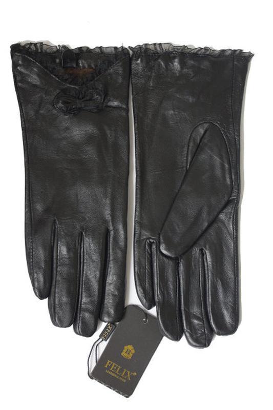 Перчатки из натуральной кожи, зима., мех