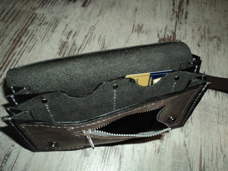 Клатч кожаный - Фото 3
