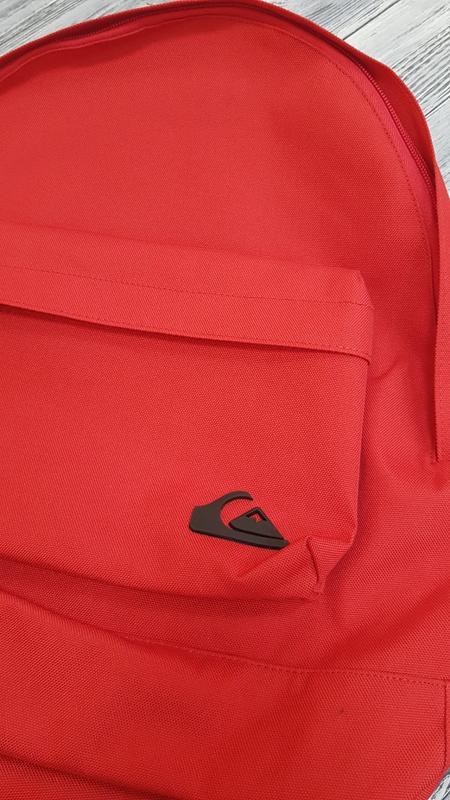 Мужской городской рюкзак quiksilver  18л красный оригинал - Фото 6