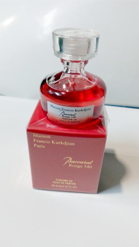 M fr kurkdjian baccarat rouge 540 huile de parfum original ref...