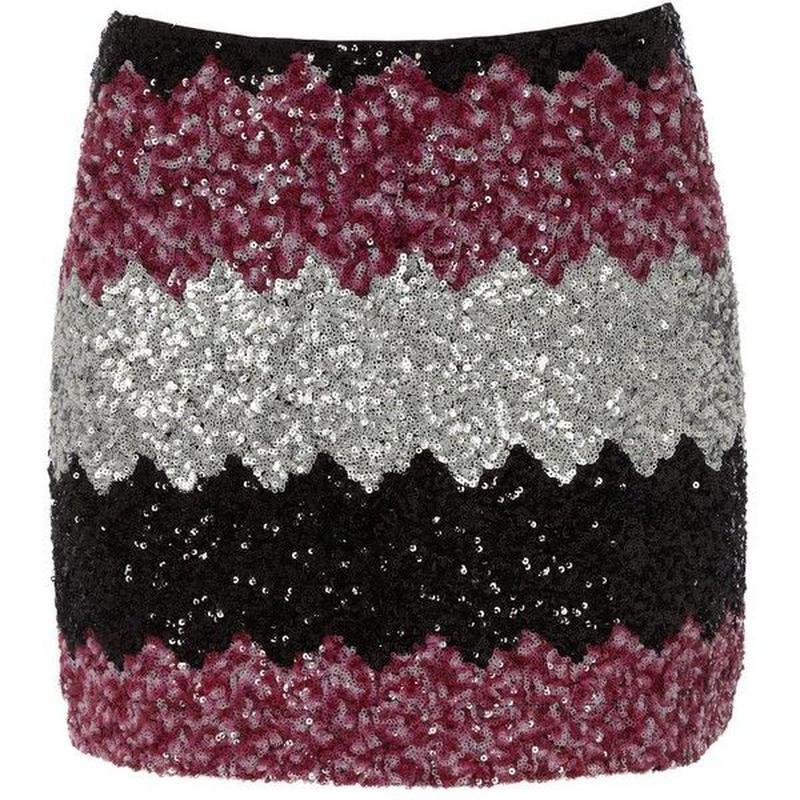 Мини юбка короткая с пайетками с блестками be beau гламурная