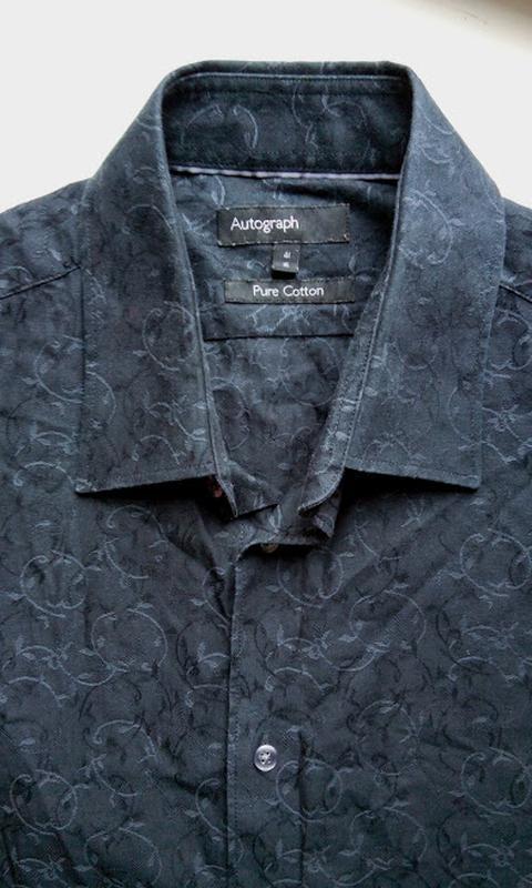Рубашка с узором рисунком коттоновая хлопковая autograph m&s