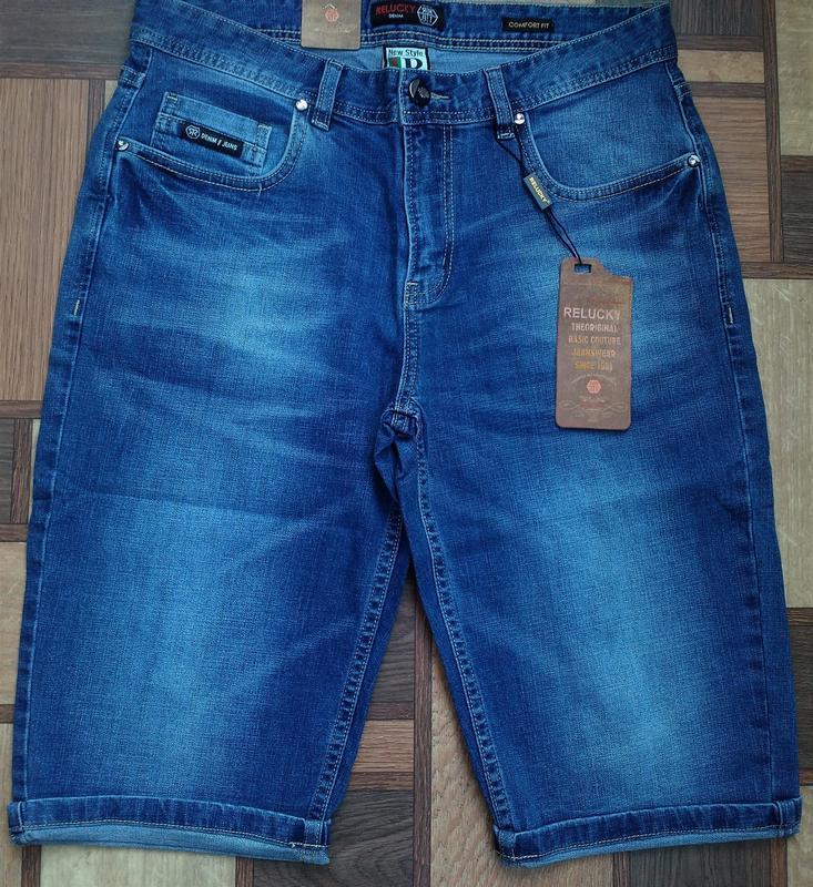 Мужские джинсовые полубатальные шорты 32,33,34,35,38,40,42 ... - Фото 3