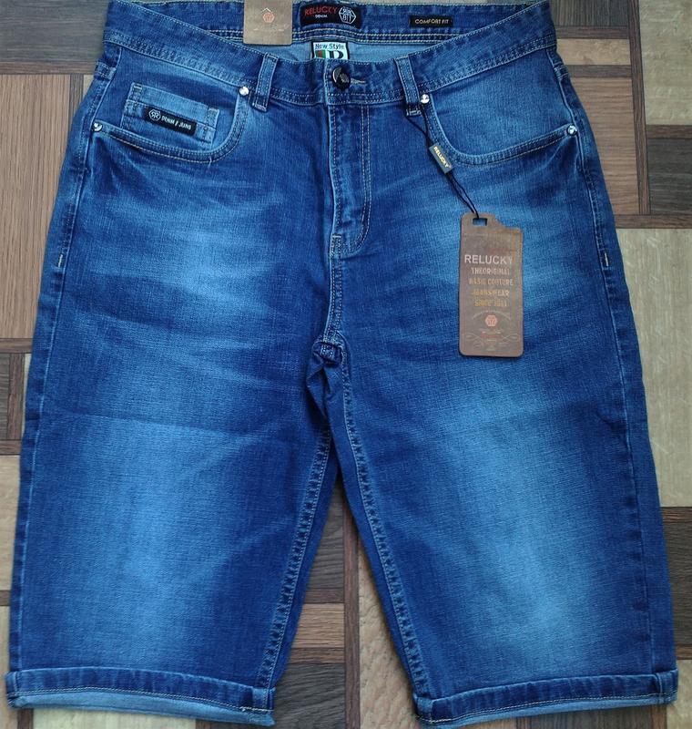 Мужские джинсовые полубатальные шорты 32,33,34,35,38,40,42 ... - Фото 4