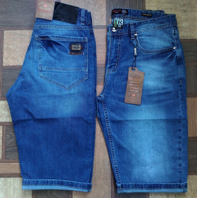 Мужские джинсовые полубатальные шорты 32,33,34,35,38,40,42 ... - Фото 5