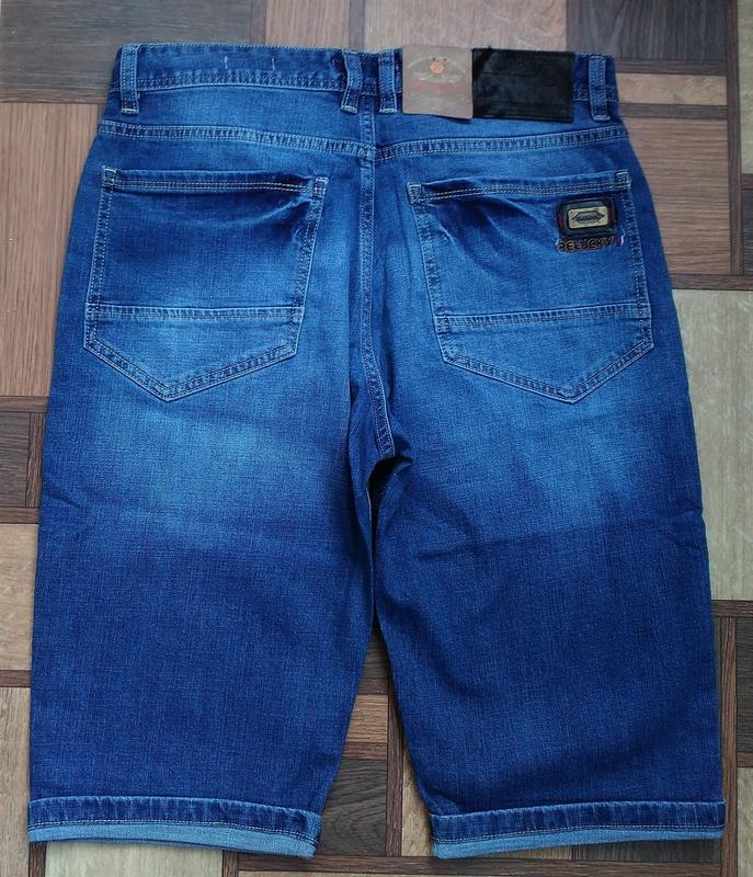 Мужские джинсовые полубатальные шорты 32,33,34,35,38,40,42 ... - Фото 6