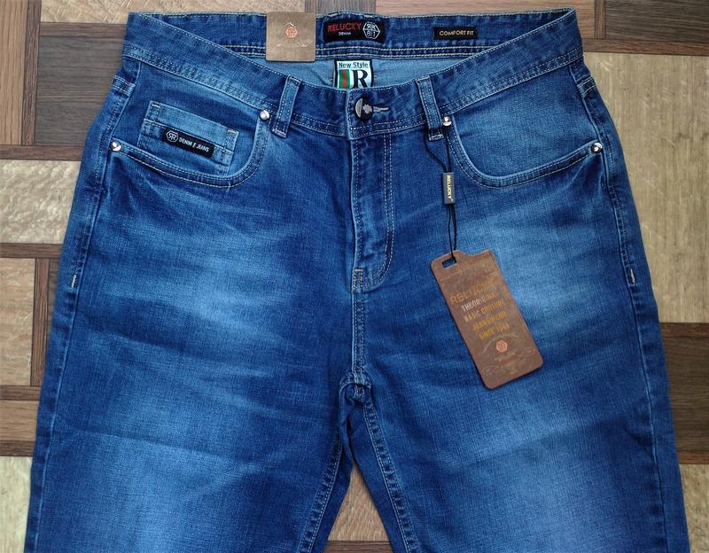 Мужские джинсовые полубатальные шорты 32,33,34,35,38,40,42 ... - Фото 7